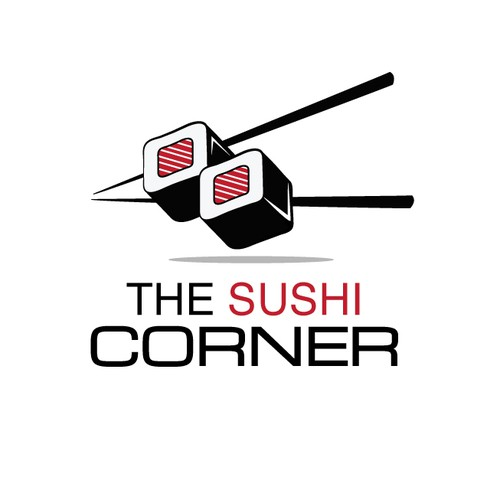Modern and Bold Logo Concept for The Sushi Corner