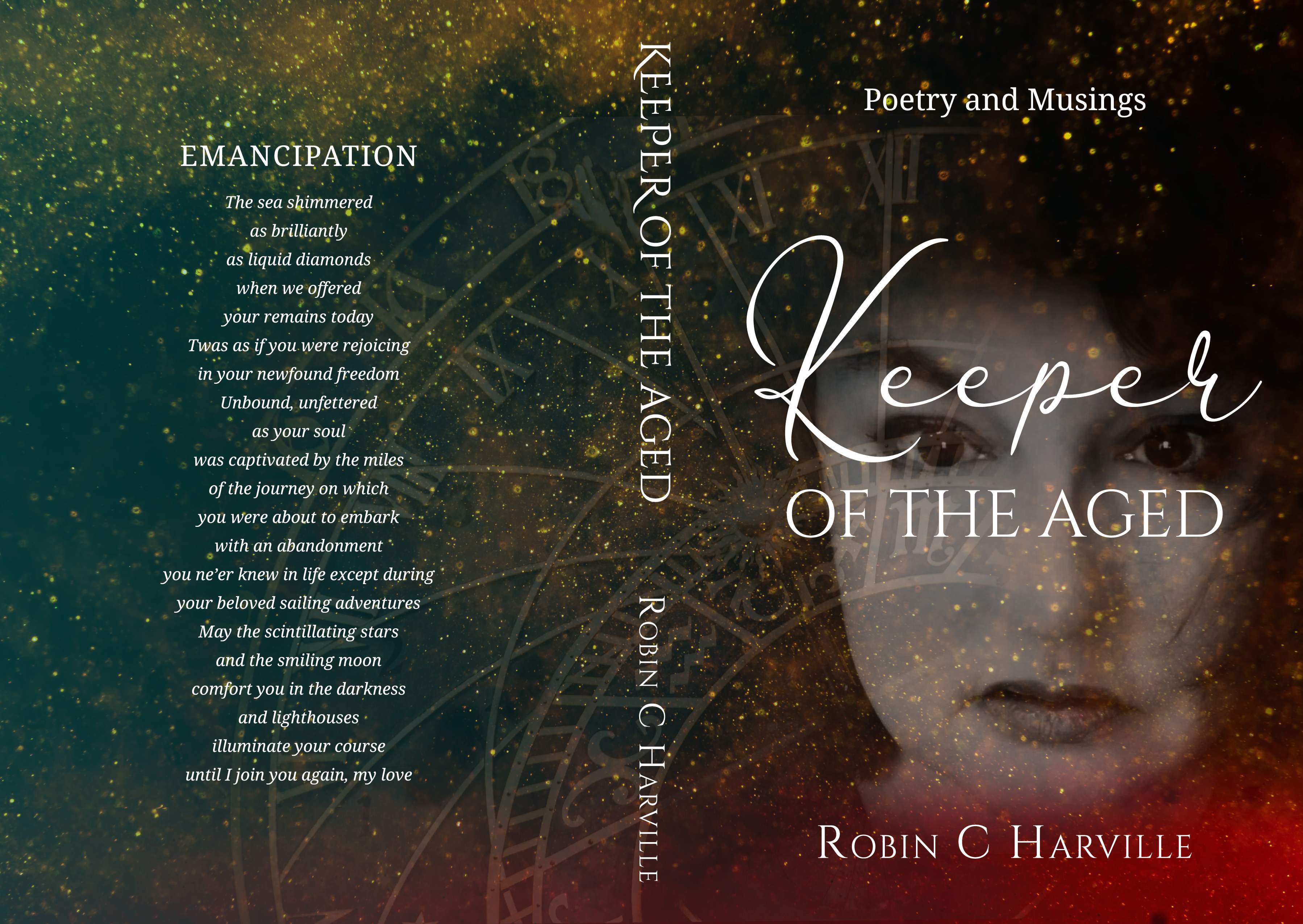 Pack a Prolific Punch Design for Keeper of the Aged: Poetry and Musings Book Cover