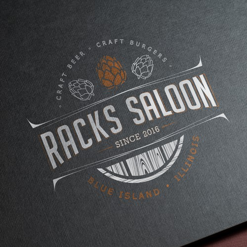 Logo for RACKS SALOON