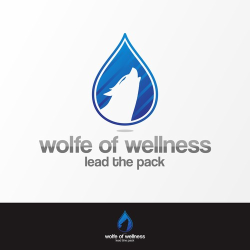 catchy wolf head logo for wellness company