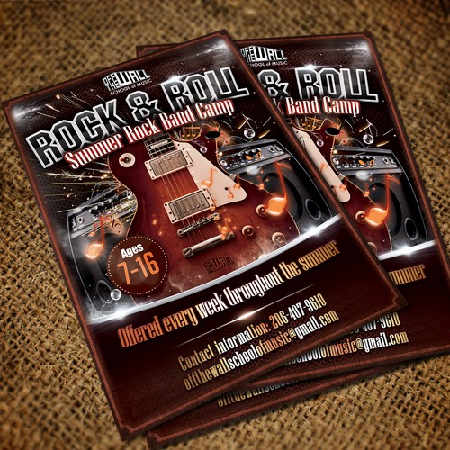 Create a Rock Band Camp Flyer for Seattle Music School