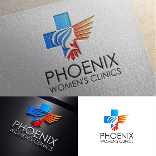 Create a logo for a new women's hospital (Phoenix Women's Clinics)
