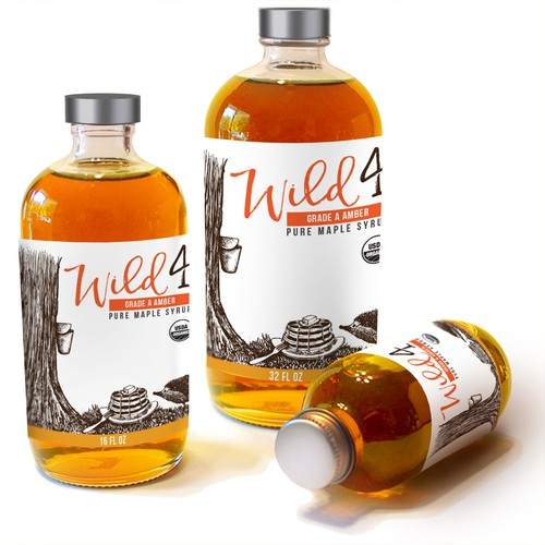 Wild for maple label