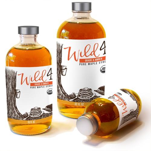Wild for maple label
