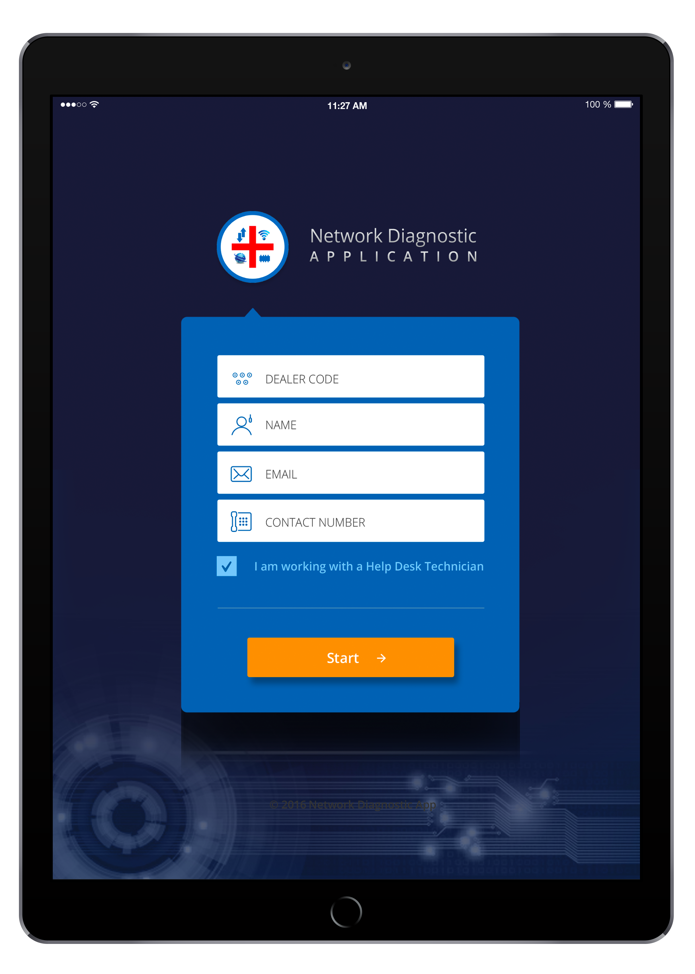 Design an intuitive UI & layout for a network diagnostic application