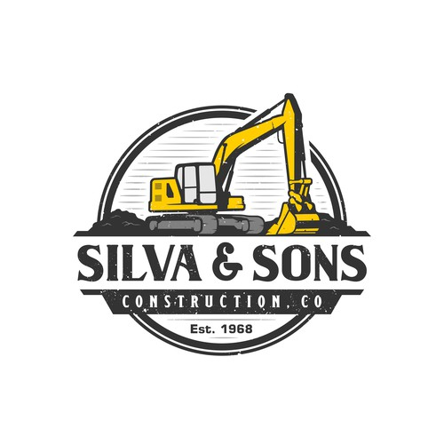 Excavation logo for silva and sons