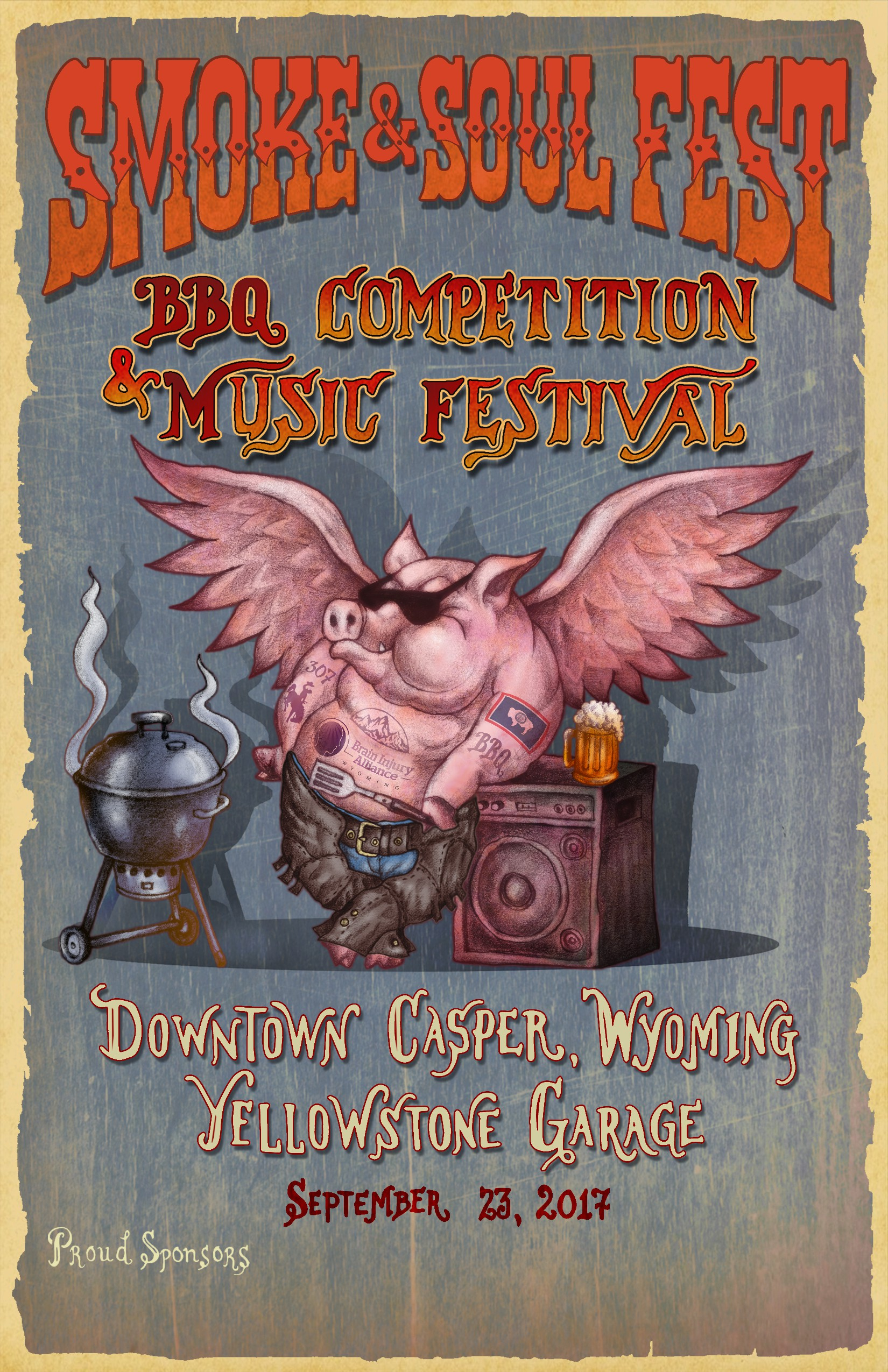 GUARANTEED PRIZE: Smoke & Soul Fest Wants a Tattooed Pig Mascot For a BBQ, Beer & Music Festival
