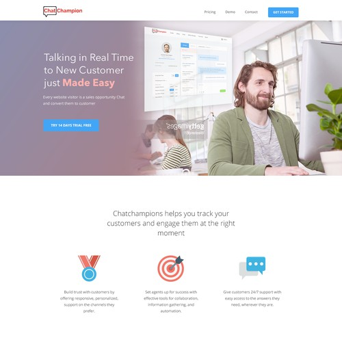 a homepage for ChatChampions