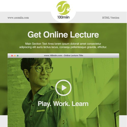 Create best email template for Korean eLearning Company
