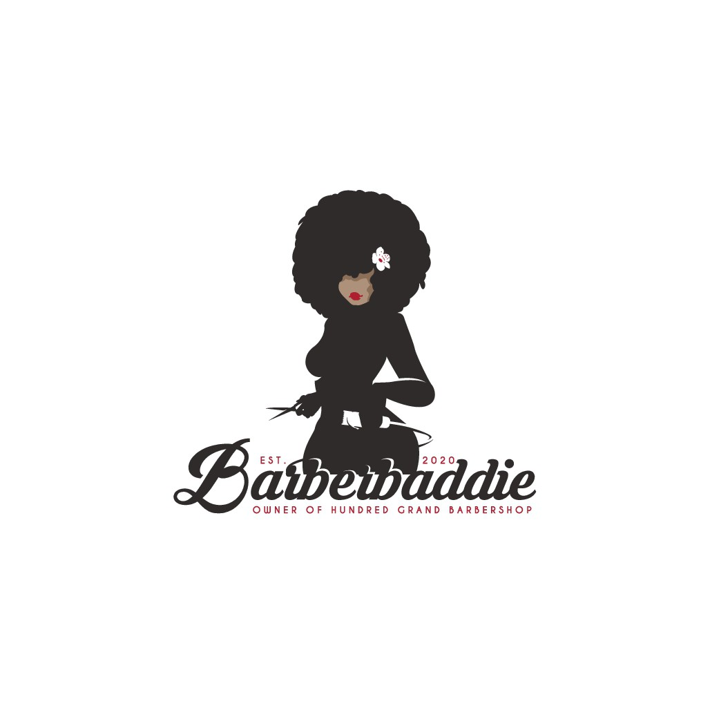 Female Afro BARBER Needs a Sexy Logo