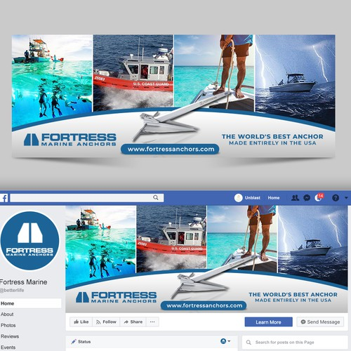 Marine Anchors Facebook Cover