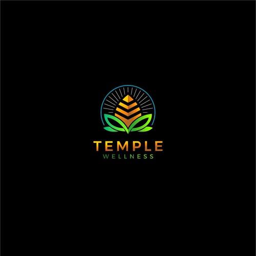 Temple Wellness Logo Concept
