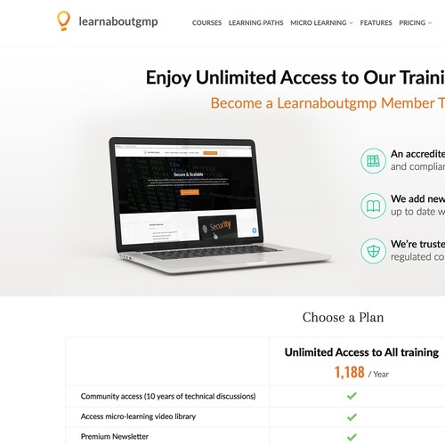 Learnabougmp Pricing page