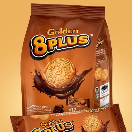 Golden 8 PLUS Sandwich cookies