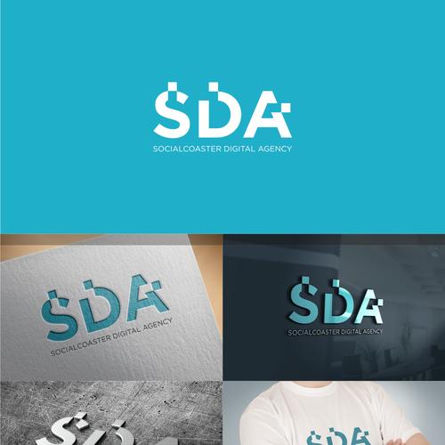 Simple logo for Socialcoaster Digital Agency