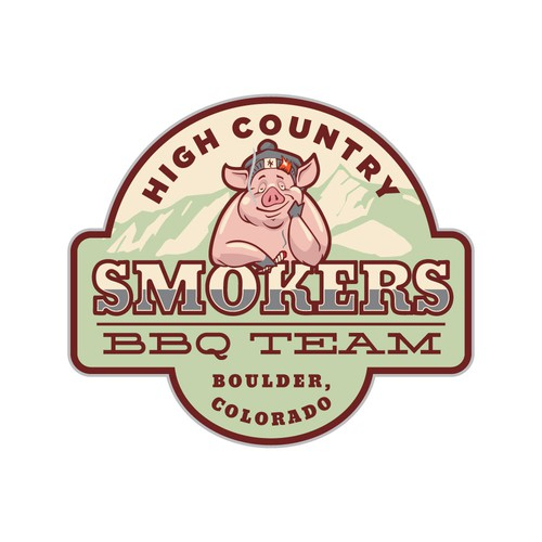 Logo for BBQ team
