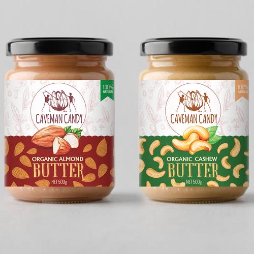 But butter labels design