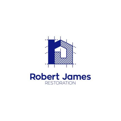 Logo concepto para constructora y restauradora de casas