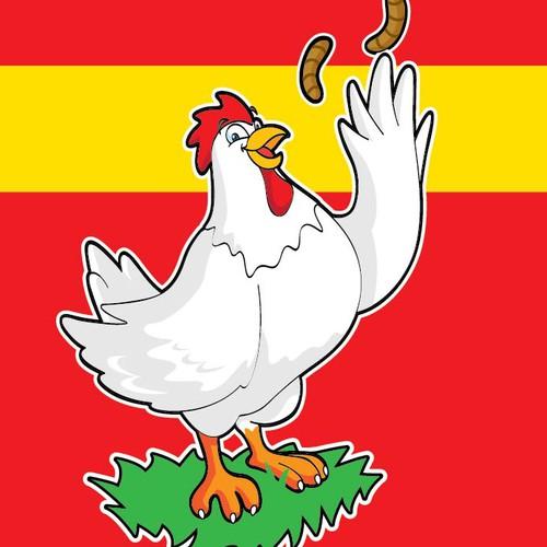 Chicken food mascot