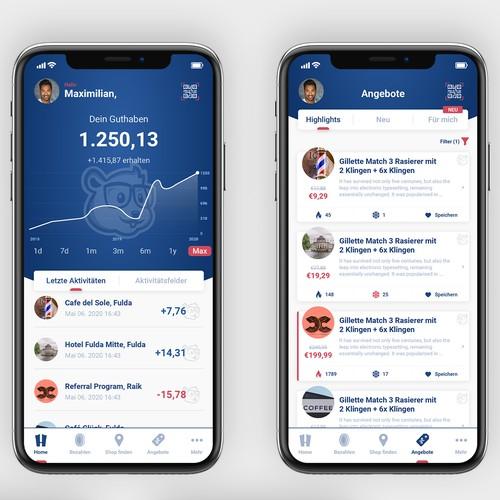 Hamster Loyalty Program App Design