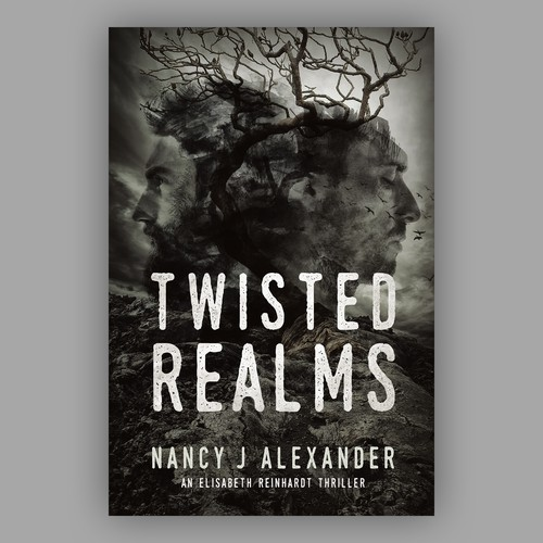 "Cover design for book ""Twisted Realms"""