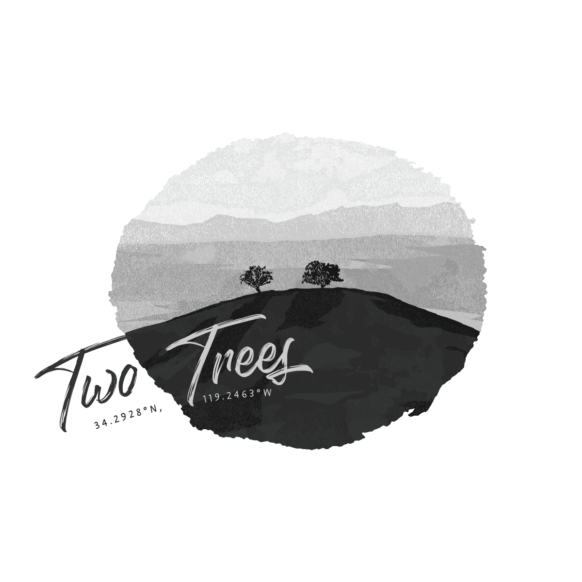 T-shirt Design - Two Trees