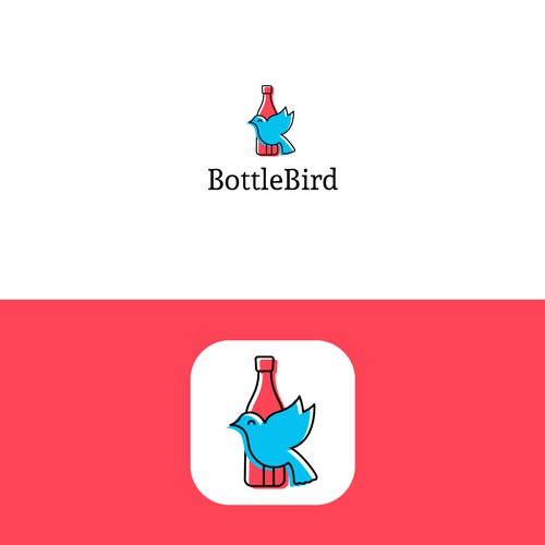 App Icon Design of bird and bottel