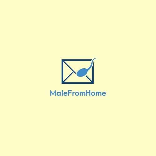 MaleFromHome Logo design idea
