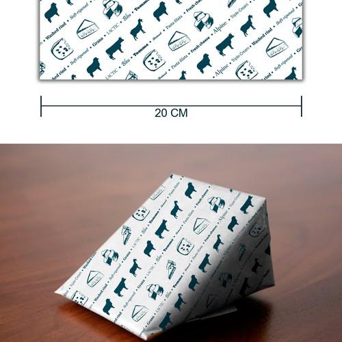 Cheese shop paper design
