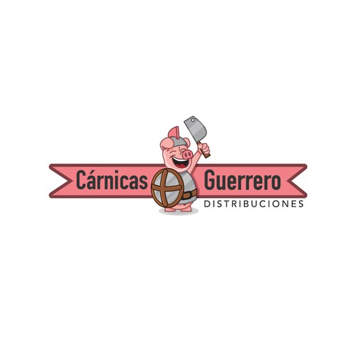 Cartoon logo for meat distribution