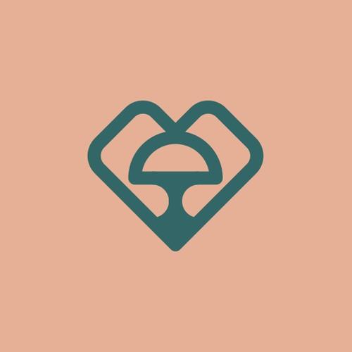 mushroom + heart