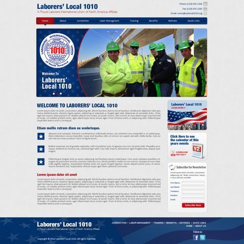 Website design for Laborers Local 1010
