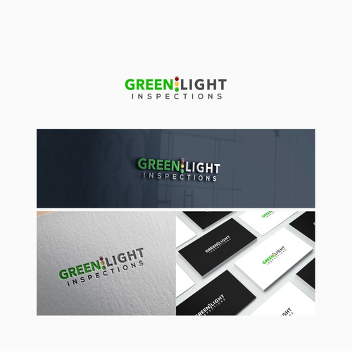 Logo concept for Green Light Inspections