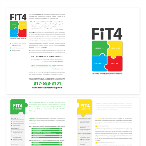 FiT4 Brochure Redesign