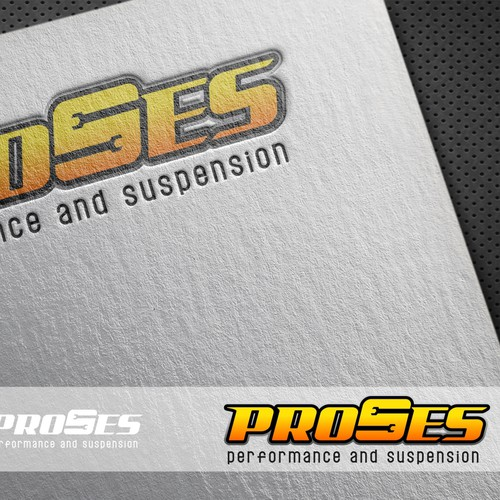 Create a logo for a motorcycle performance and suspenion company