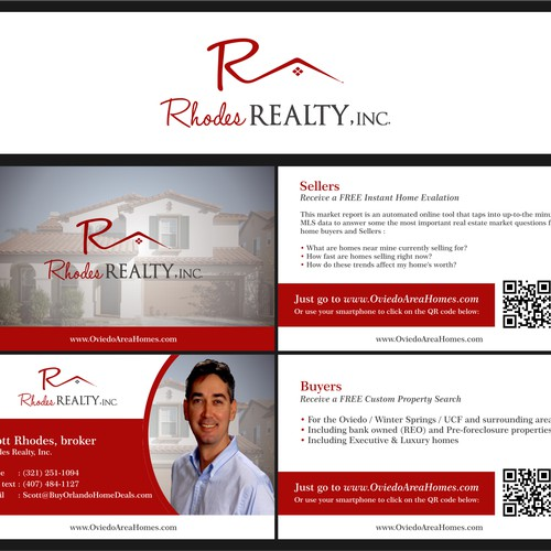 Create a winning logo & business cards for Rhodes Realty