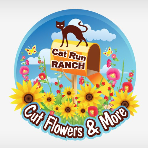 my flower farm logo