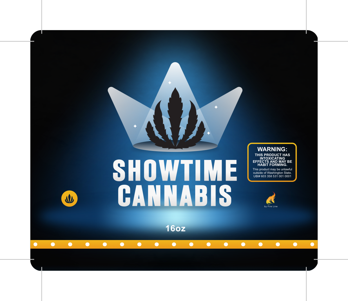 packaging for Showtime Cannabis