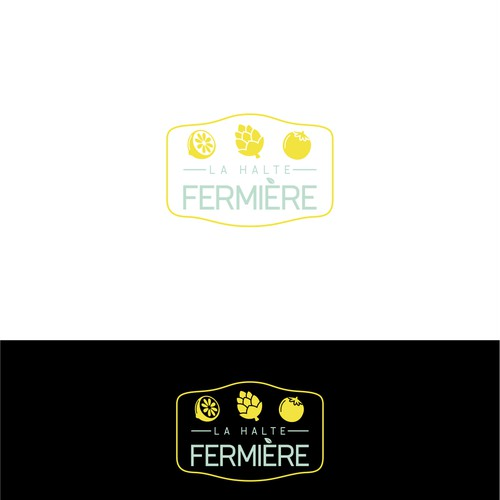 logo for la halte fermiere