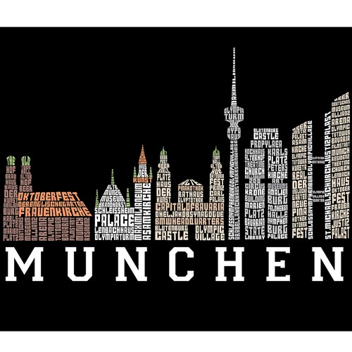 City Skyline typography art