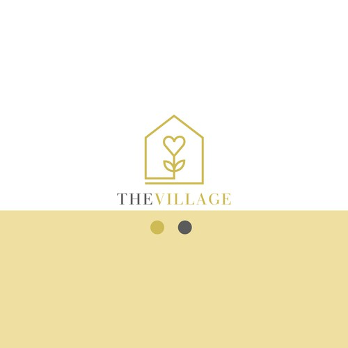 Logo that recreates the feeling of the village for parents lonely in their parenting journe