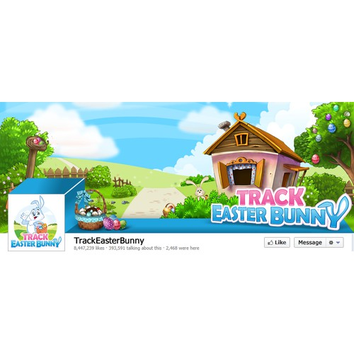 Facebook cover for TrackEasterBunny.com