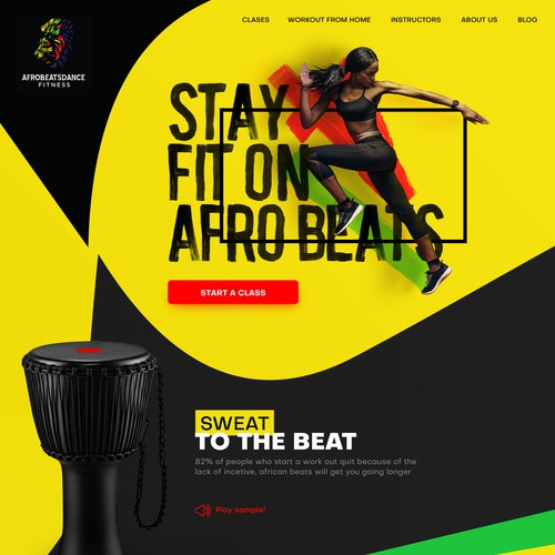 Bold Colours Fitness Course Website Afrobeat
