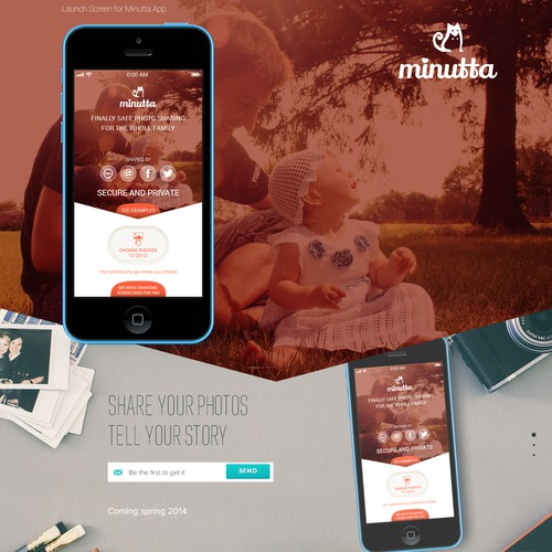 Launch Screen for Minutta App