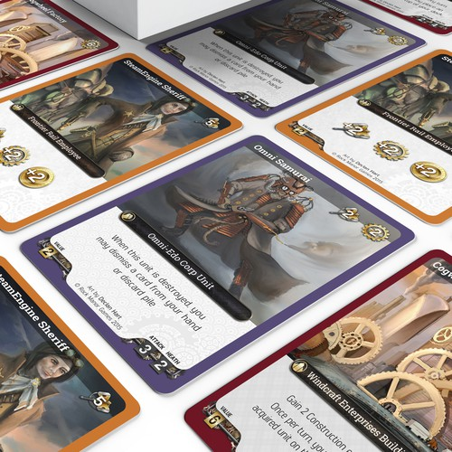 Steampunk card game design