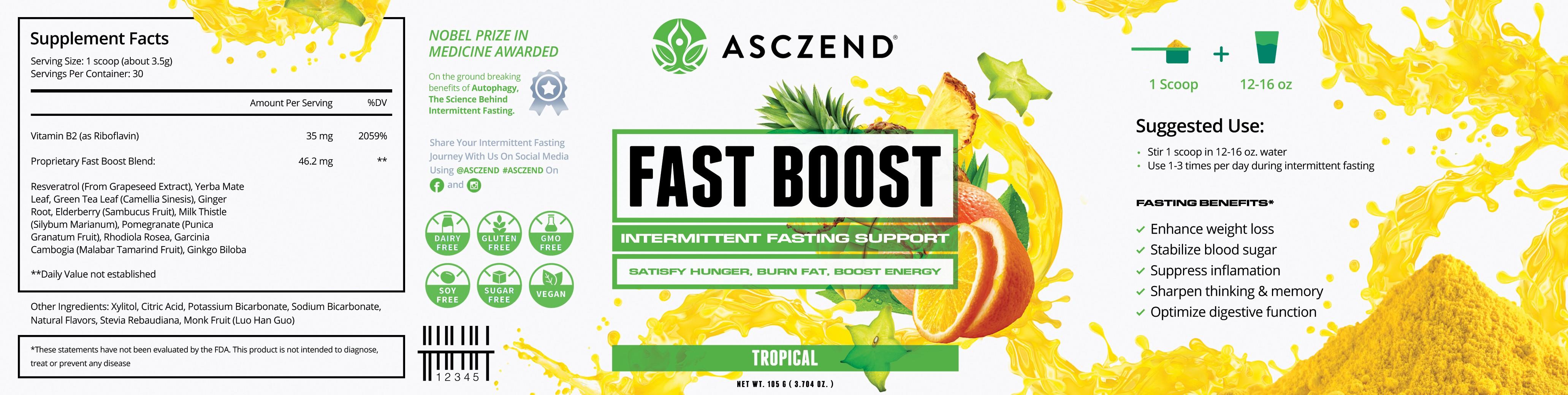 Intermittent Fasting Supplement Label Design