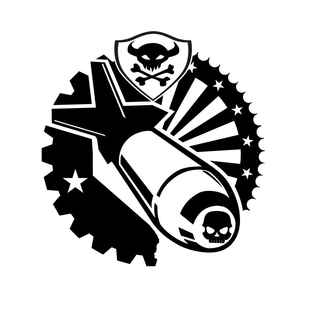 Simple, One-color, Eagle-bomb-dropper Emblem Tattoo
