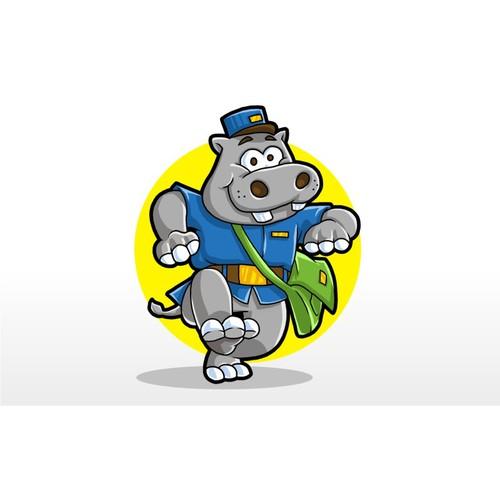 hippo mascot funny