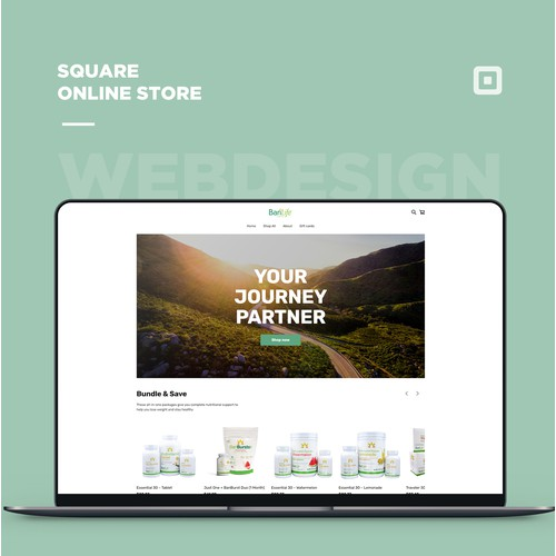 Square online store for a nutritional supplement company
