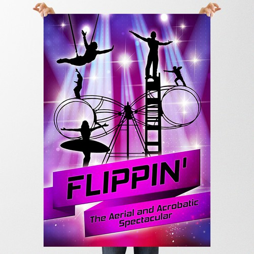 Create a Poster for an Acrobatic Stunt Show